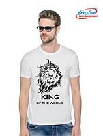 Мужская футболка с принтом Кing