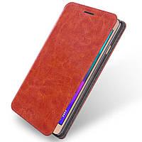 Чехол книжка для Samsung Galaxy A5 2016 SM-A510 боковой, MOFI Коричневый