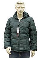 Мужская зимняя куртка с капюшоном очень теплая зеленая