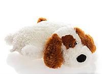 "Подушка-игрушка  Собачка ""Шарик"",белый 55 см №2,ПШ4-9 (детская подушка)"