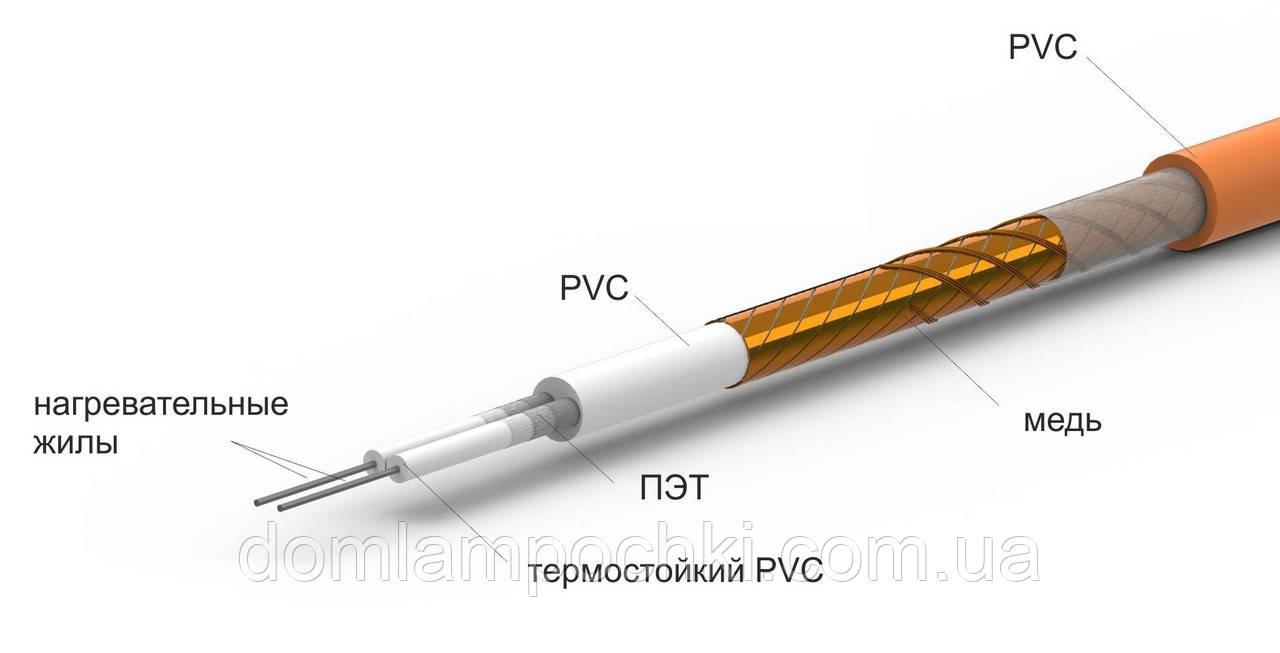 Двужильный нагревательный кабель RATEY RD2 1480 Вт