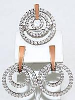Серебряные женские наборы с цирконием . Серьги +кольцо. Размеры уточняйте.