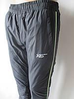 Утепленные спортивные штаны из плащевки.