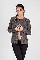 Пиджак из плотного трикотажа букле на подкладке