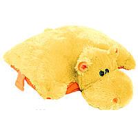 Подушка-игрушка  Бегемот, 45 см медовый №1ПБ-9 (мягкая игрушка подушка бегемот)