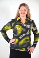 Трикотажные блузки  , теплая  большие размеры (БЛ 019519)