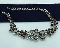 Чудесный вечерний браслет с камнями. Дизайнерские украшения оптом. 1001