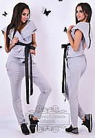 Оригинальный спортивный костюм: штаны+жилетка с капюшоном