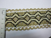 Тасьма декор льон 5 см