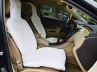 Шикарный белый чехол в машину из стриженной овчины мутона