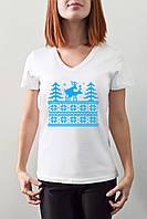 """Женская футболка """"Олени"""", фото 1"""