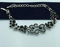Чёрный живописный браслет. Волшебные украшения оптом. 1009