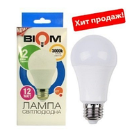 Светодиодная лампа BIOM E27-12W-Груша-Теплый