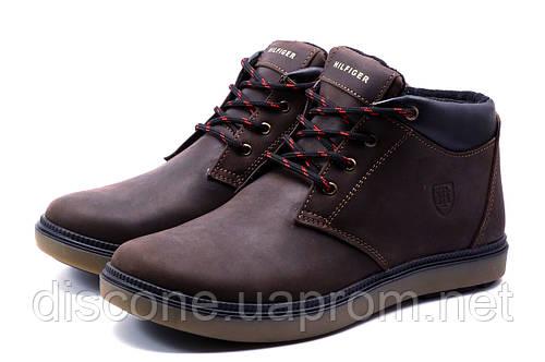 Ботинки зимние H.Denim мужские, коричневые, кожаные, р. 40