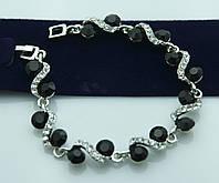 Обаятельный браслет с круглыми кристаллами. Волшебные украшения от Бижутерии оптом RRR. 1011