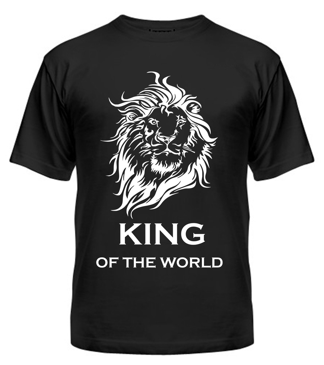 Мужская футболка с принтом Кing белый