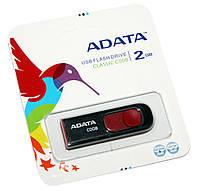 USB Flash Drive 2Gb A-DATA C008 Black / AC008-2G-RKD (-)