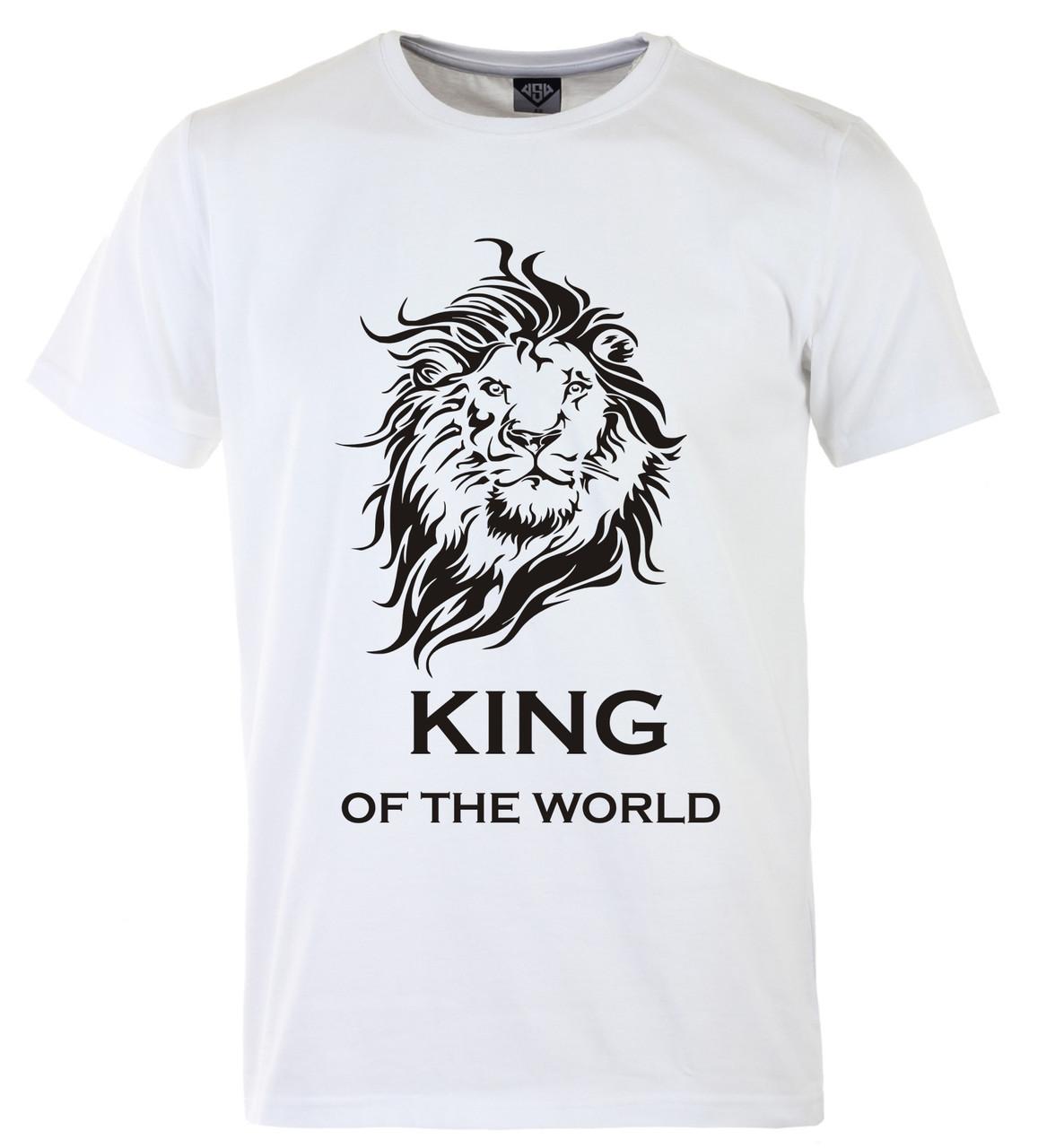 Мужская футболка с принтом Кing черный