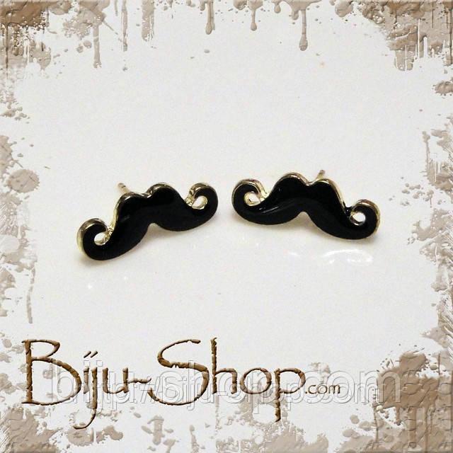 Серьги  Усы Мustache