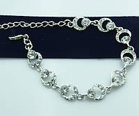 Нежный белый браслет в кристаллах. Свадебные украшения от Бижутерии оптом RRR. 1021