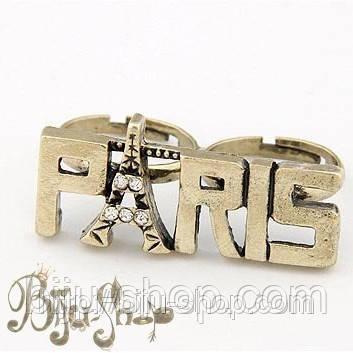 Кольцо PARIS на два пальца