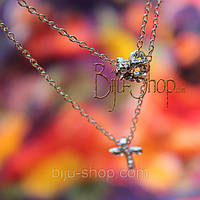 Кулон крест с сердечком