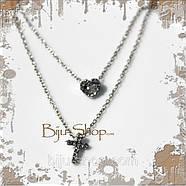 Кулон крест с сердечком, фото 3