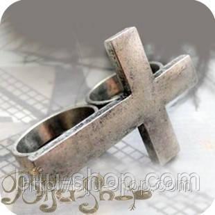Кольцо  Крест на два пальца.
