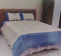 Покрывало в спальню+две наволочки из сатина стеганого (В.А.Д.)