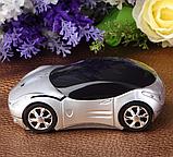 Беспроводная мышка Машинка, светящиеся фары Серебристый, фото 2
