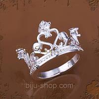 """Кольцо """"Корона"""" серебро"""