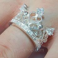 "Кольцо ""Корона"" серебро, фото 3"