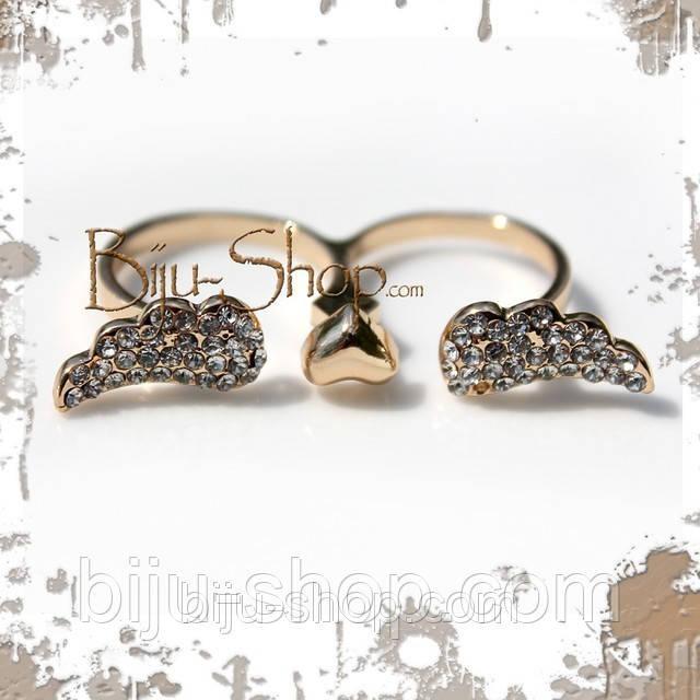 Кольцо на два пальца Крылья