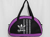 Сумка текстильная спорт ADIDAS черный с сиреневым, фото 1