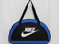 Сумка текстильная спорт NIKE черный с синим, фото 1