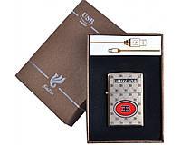 Зажигалка подарочная BUGATTI (спираль накаливания, USB) №4705 SO