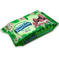 Влажные салфетки семейные SuperFresh 60 шт, (большая упаковка)