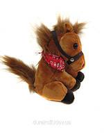 Танцующая музыкальная лошадка 2016 коричневая