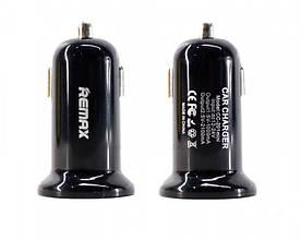 Автомобильное зарядное устройство Remax Mini USBx2 2.1A/1A Black (RCC201 ),Черное