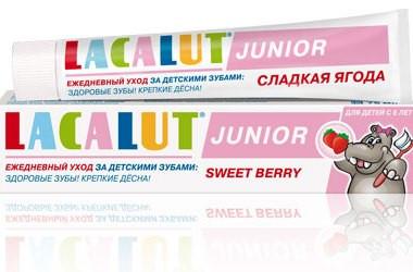 Лакалют Джуниор зубная паста для детей сладкая ягода 75мл