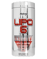 Жиросжигатель Lipo-6 Unlimited 120 liqui-caps