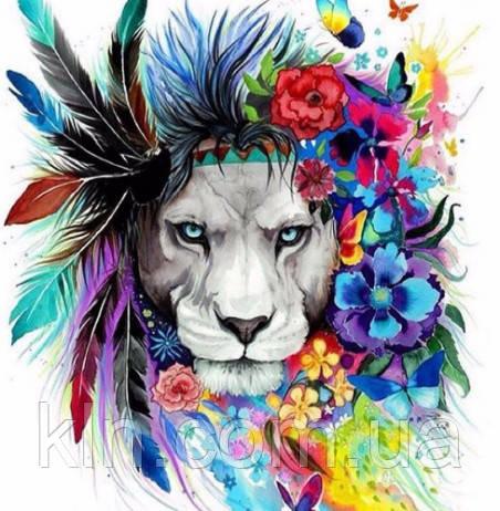 Алмазная вышивка Радужный лев 40 х 50 см (арт. FS307)