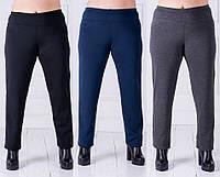 Женские штаны с мехом №20140 батал (р.L-3XL)