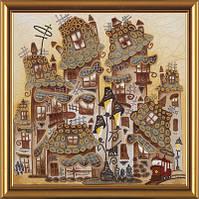Набор для вышивания бисером PRECIOSA Пряничные домики