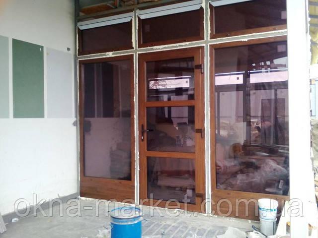 Пластиковые окна и двери для коттеджа, фото работы ТМ