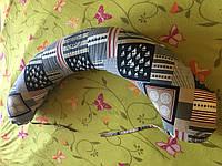 """Подушка 2в1 """"БАНАН"""" для беременных + подушка для кормления грудью бублик наполнитель холлофайбер"""