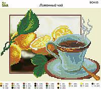 Схема для вышивки бисером Чай с лимоном