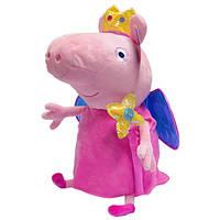 Мягкая игрушка Peppa - Пеппа принцесса с короной и волшебной палочкой (45 см)
