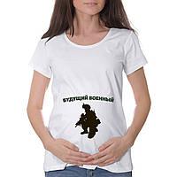 """Женская футболка """"Будущий военный"""""""