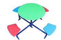 Столик для детской площадки,четырехместный